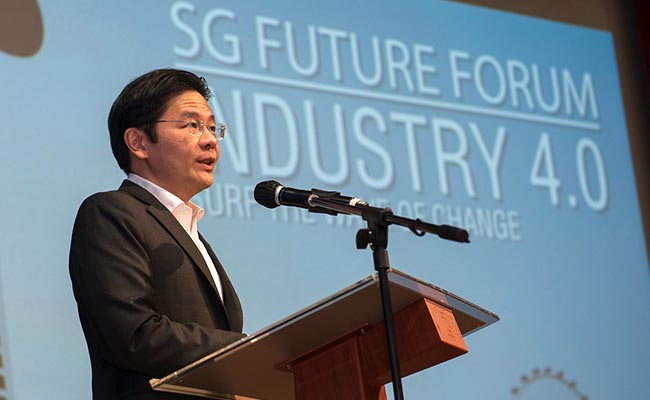 Mr Lawrence Wong, Minister for Education, at the inaugural SG Future Forum